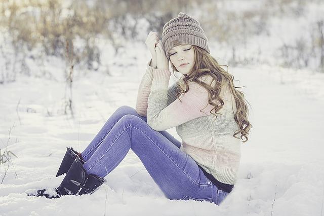 Красива коса през зимата